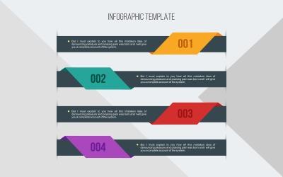 Banner sablon Infographic elemek