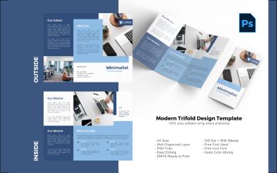 Modelo PSD de folheto com três dobras da empresa