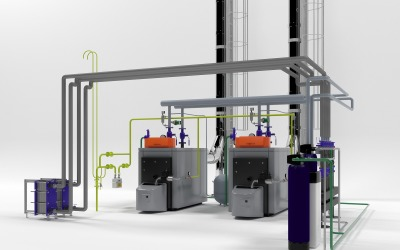 Viessmann industriële ketels 3D-model