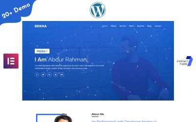 Dekha-Portfolio / Resume / CV One page WordPress Elementor Theme