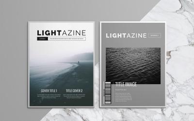 Шаблон журнала Lightazine Indesign