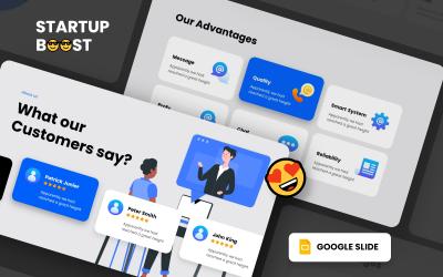 Startup Boost - плавный анимированный шаблон Google Slides