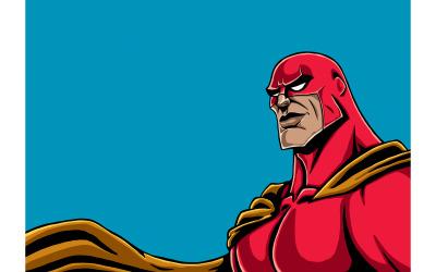 Superhero Portrait Red - Illustration