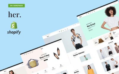 Her Fashion Store - Tema Shopify reattivo multiuso