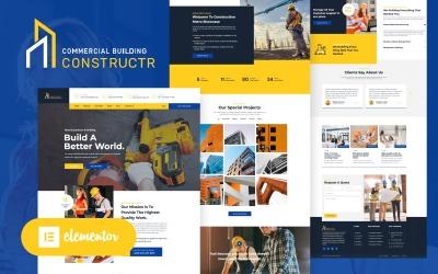 Constructr - тема WordPress Elementor для будівельної галузі