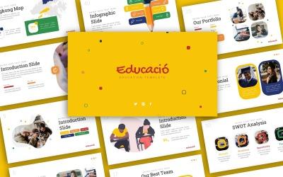 Educació Education Presentation PowerPoint template