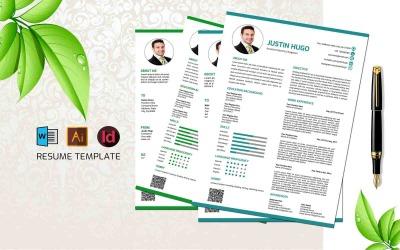 Justin Hugo- Professional Engineering CV Resume Template