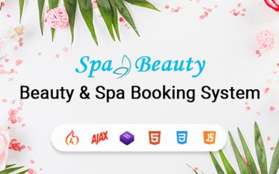 Modèle d'application de système de réservation de rendez-vous spa et salon de beauté