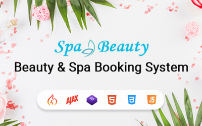 Modello di app per sistema di prenotazione di appuntamenti per spa e salone di bellezza