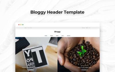 Bloggy Header PSD Template