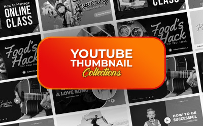 Youtube miniatyrbild PSD-mall