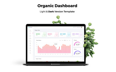 Organic Store Admin Dashboard UI Elements
