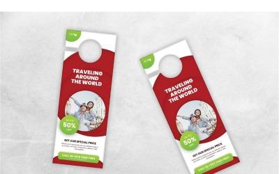 环游世界的门衣架-企业形象模板