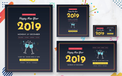 New Year Pack Social Media Template