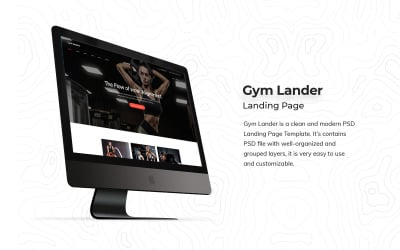 Gym Landing Page PSD Template