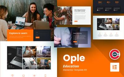 Ople - Education Template - Elementor Kit