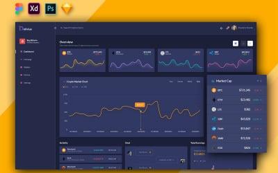 Delivius - Cryptocurrency Admin Dashboard UI