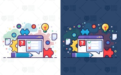 Concept d'analyse - Illustration