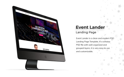 Event Landing Page PSD Template