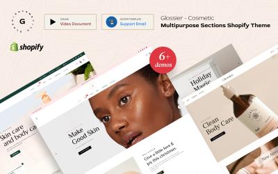 Glossier - багатоцільові розділи Shopify Theme