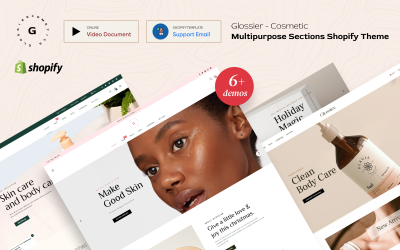 Glossier - Multipurpose Sections Motyw Shopify
