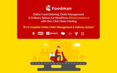 FoodMan | Online Food Ordering, Management & Delivery System WordPress Plugin