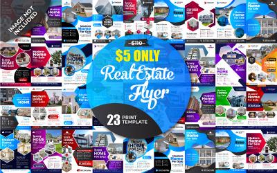Collection de modèles de flyers immobiliers - Modèle d'identité d'entreprise