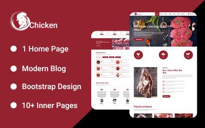 Tavuk Açılış Sayfası PSD Şablonu