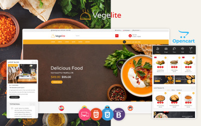 Vegelite - Food OpenCart Template