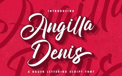 Angilla Denis - Brush Cursive Font