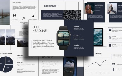 Бізнес-презентація, інфографіка, календар PowerPoint шаблон