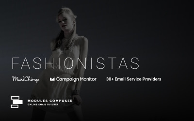 Fashionistas - E-mail az Online Builder hírlevél sablonnal