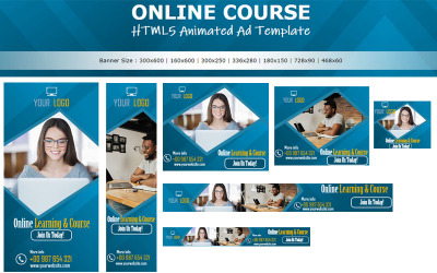 KURZ ONLINE - Animovaný banner s šablonou reklamy HTML5