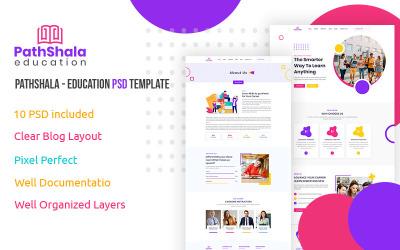 PathShala - Šablona PSD pro vzdělávání