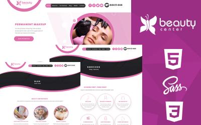 Modelo de site criativo em HTML5 e CSS3 do Beauty Center