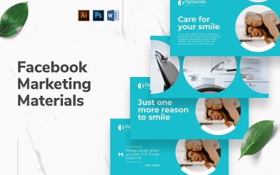 Dental Clinic Facebook Cover and Post Social Media Template