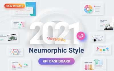 Neumorphic - Multipurpose Presentation Modern Design PowerPoint template
