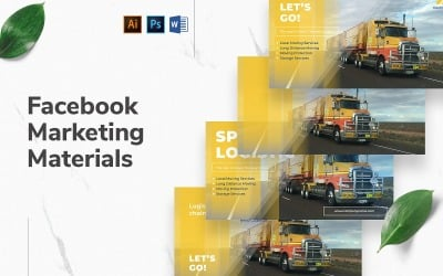 Trucking Logistics Facebook Cover and Post