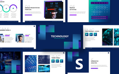 Technology Powerpoint Presentation Template PowerPoint template