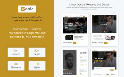 Iconic - Plantilla de sitio web HTML5 creativo multipropósito corporativo y de cartera