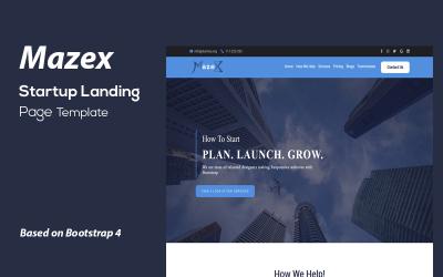 Mazex - Startup Landing Page Template