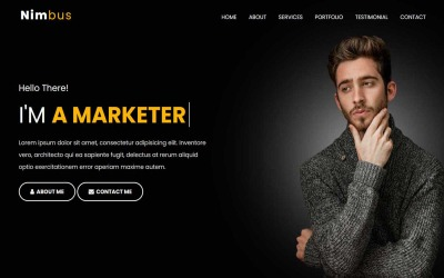 Nimbus - HTML-bestemmingspaginasjabloon voor persoonlijk portfolio