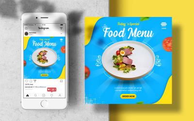 Mat Instagram Banner Mall för sociala medier