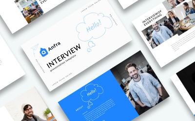 Thème Google Slides de présentation d'entrevue gratuite