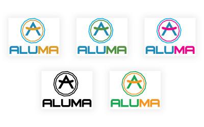Modello di logo educativo Aluma