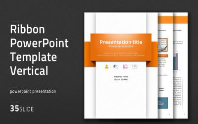 Ribbon PowerPoint vertikální