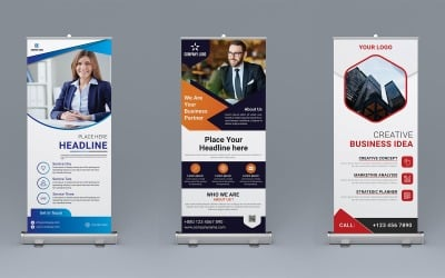 Roll-Up Banner Design - Corporate Identity Template