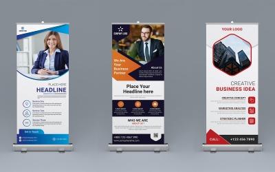 Roll-Up-Banner-Design - Corporate Identity-Vorlage