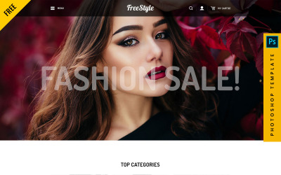 Freestyle - eCommerce PSD-sjabloon
