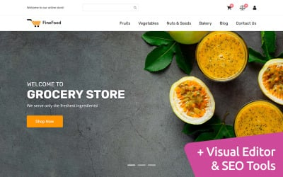 FineFood - MotoCMS E-Commerce-Vorlage für Online-Shops